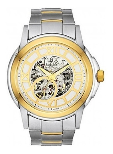 Relógio Bulova Automático Esqueleto Masculino Wb21392s
