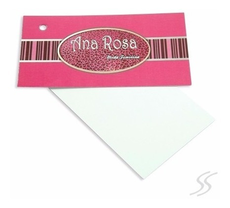 Tags Etiquetas Para Roupas Em Papel Couche 300gr 4/1