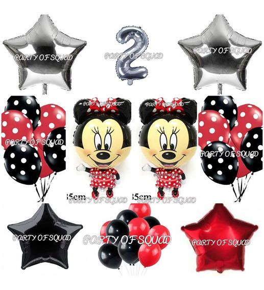 Globos Minnie Mouse Cumpleaños ( 50 Piezas ).