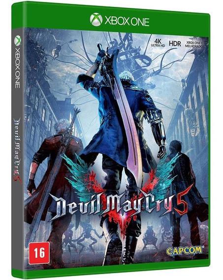Jogo Devil May Cry 5 Dmc Dmc5 Xbox One Midia Fisica Nacional Promoção