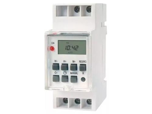 Temporizador Timer Programable Digital Riel Din 2hp R