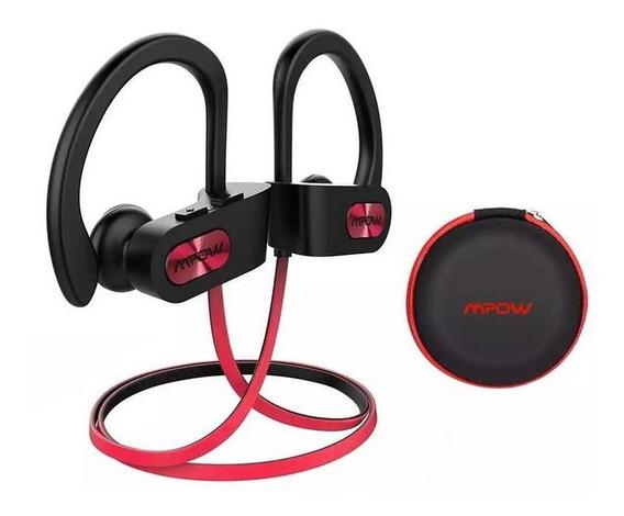 Fone Bluetooth Mpow Flame Vermelho E Preto Ipx7 Esportes