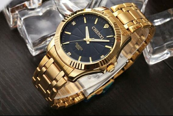Relógio De Pulso Dourado Chenxi Feminino Luxo