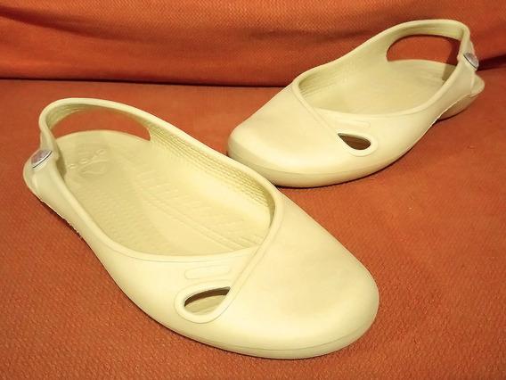 Zapatos Flats Crocs Olivia Slingback No. 24 Detalles De Uso