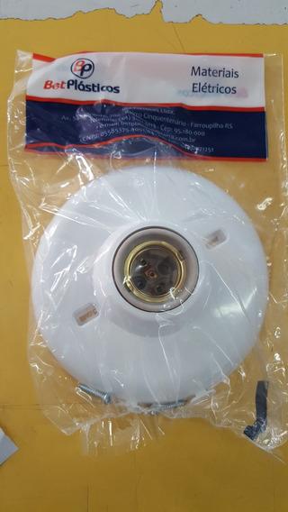 Kit 15 Suporte Lâmpada Comum Led Plafon Branco C/ Porcelana