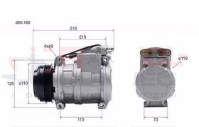 Compressor 10pa17 Caminhão Fiat Iveco Stralis Euroestar 24v