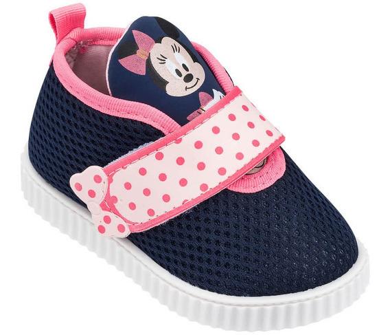 Tenis Infantil Velcro Grendene Feminino Minnie Plush 21570