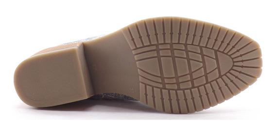 Zapato Mocasin Botineta Dama Mujer Taco Bajo Sacha 100
