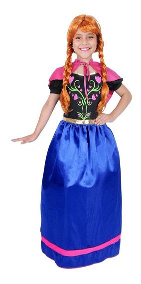 Disfraz De Princesa Anna Niña Clásica Carnavalito -d627