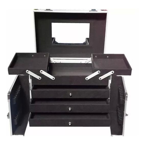 Maletin Porta Cosmeticos Valija Caja Profesional Aluminio