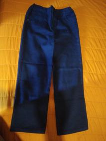 Pantalon Azul Marino Tipo Mezclilla, C/ Resorte En La Cintur