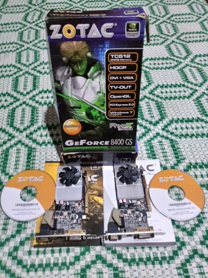 Duas Placas De Video G Force 8400 Gs Semi Nova. 512gb. 64bts