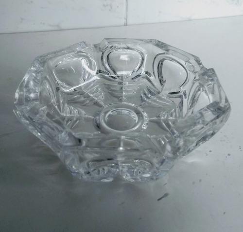 Cenicero Cristal G D R Tallado A Mano Elegante Hermoso