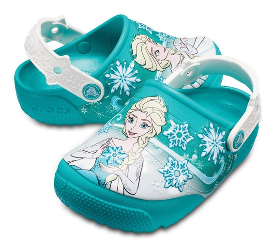 Ojotas Sandalia Crocs Frozen Luces !-sagat Deportes-205012