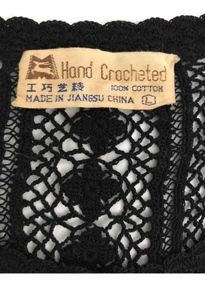 Blusa Crochê Feita Mão- Original China- M