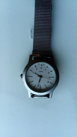 Relógio Quartz Prateado Masculino