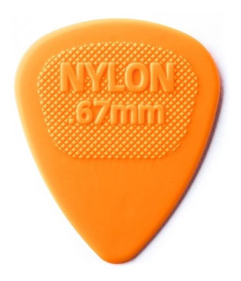 Palhetas Dunlop Usa Midi Nylon 0,67mm - 10 Un