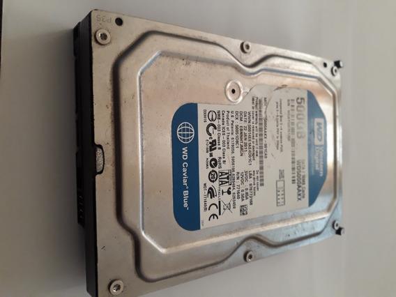 Sata Hd 500gb Hd Interno Usada Para Computador Funcionando