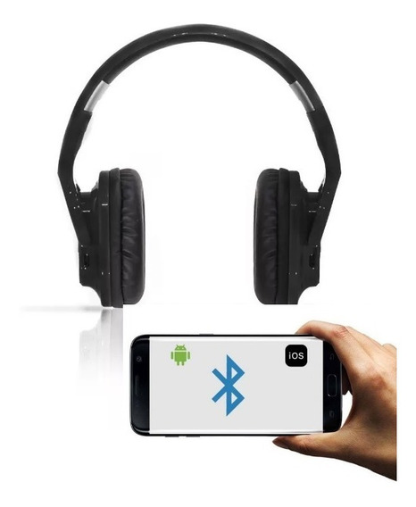 Fone Ouvido Headphone Bluetooth Universal Bt800 Celular + Nf
