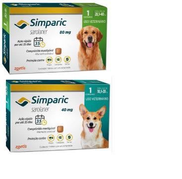 Simparic 1 Comprimido De 10 A 20 Kg 1 Comp De 20 A 40kg