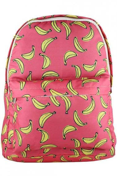 Mochila Vermelha De Banana Super Resistente