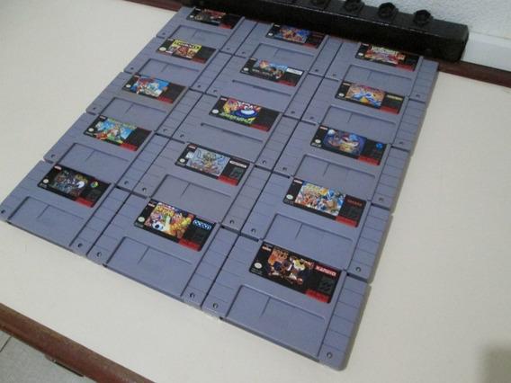 Incrível Lote De 15 Jogos De Super Nintendo (originais)