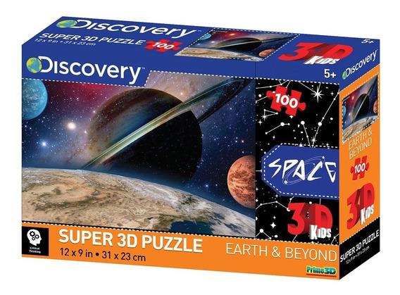 Quebra Cabeça Multikids 3d Planetas Com 100 Peças - Br1057