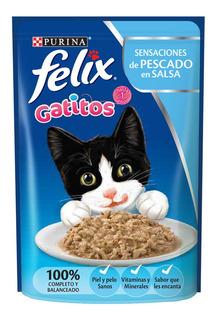 Pouch Felix Gatitos De Pescado En Salsa 85 Gr