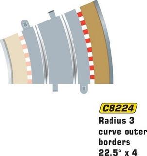 Scalextric C8224 Bordes Tan Radio Exterior - 22.5 Grados