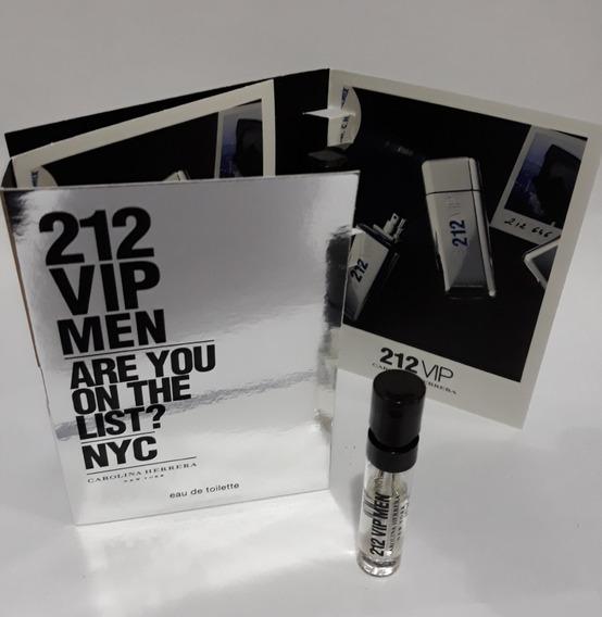 Amostra Perfume 212 Vip Men Edt 1,5ml Frete Grátis