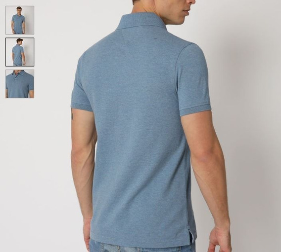Polo Tommy Hilfiger Azul Acero Slim Fit