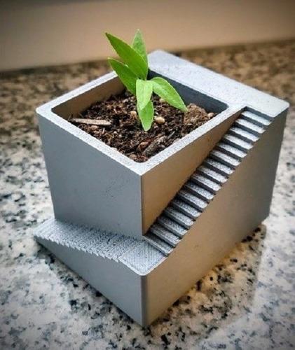 Vaso Impresso Em 3d Para Suculentas E Mini Cactos Pack Duplo