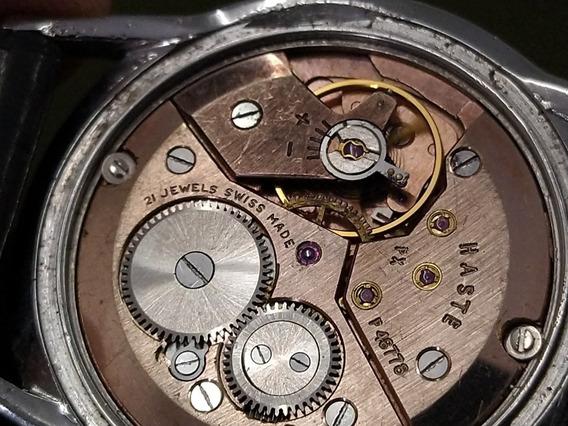 Reloj Haste Suizo 21 Joyas Xtraplano Cuerda Antiguo Años 40