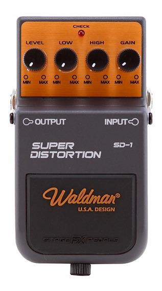 Pedal Super Distortion Waldman Sd-1 Guitarra Distorção Sd1