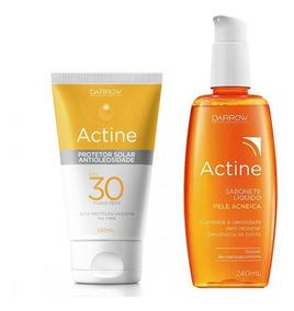 Actine Kit Protetor Solar 120 Ml E Sabonete Líquido 240 Ml
