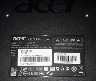 Monitor Acer Lcd Relación 16:9 Sin La Base.