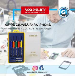 Kit Chave Para iPhone Desmontagem 7 Peças Yx-8186