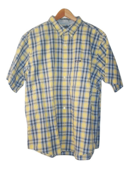 Camisa Chaps Seminueva Cuadros Manga Corta Talla Xl $490a