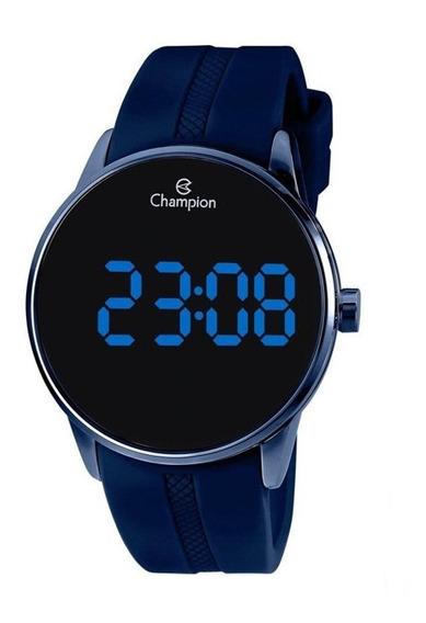 Relogio Champion Unissex Ch40188a Digital Azul Silicone