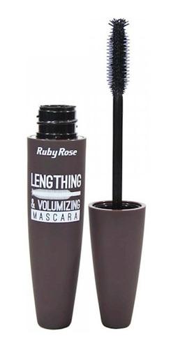 Máscara para cílios Ruby Rose Lengthing & Volumizing 9ml cor preto 1 unidade