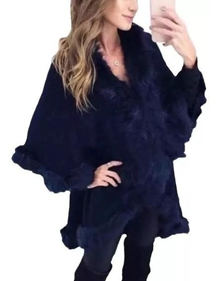 Blusa Poncho Kimono Luxo Casaco Frio Inverno Exclusivo