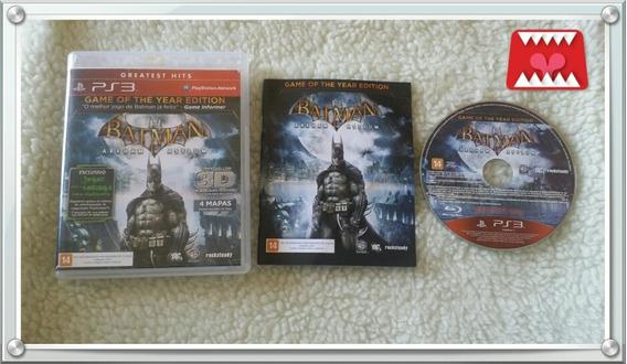 Jogo Batman Arkham Asylum Playstation 3 Ps3 Mídia Física