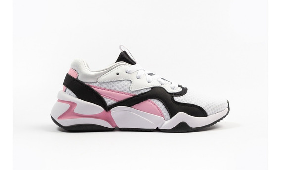 Zapatillas Puma Nova 90 Block Sneakers Blanca-ros De Mujer