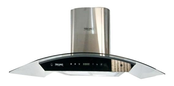 Campana Pared Tekhno-home 90cm Cristal Templado / Inoxidable