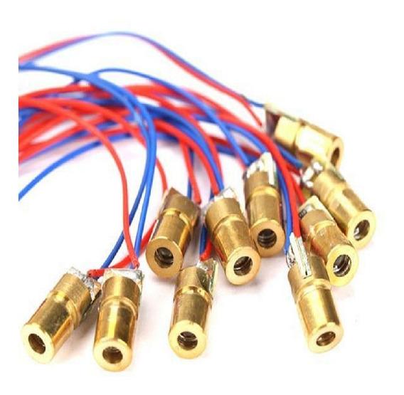 10 Peças - Laser Diodo Vermelho 5v 650nm 6mm Arduino Alarme