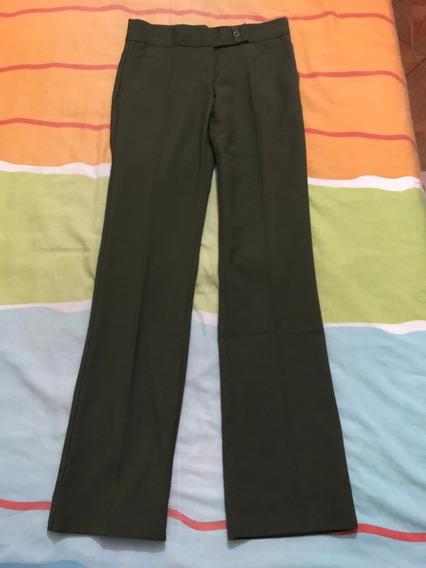 Pantalon Dama Vestir Ejecutivo Verde Talla M S Xs Nuevo