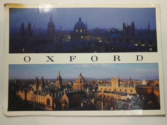Postal De Oxford (inglaterra) - Usada Y Con Franqueo