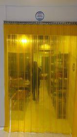 Cortina Tiras Amarela 1,30 Larg X 3,00 Alt Inox