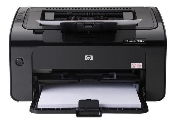 Impressora a cor HP LaserJet Pro P1102W com Wi-Fi 115V - 127V preta