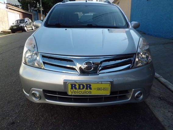 Nissan Livina 1.8 Sl Prata Aut, Piloto Aut Couro 2013
